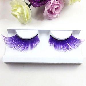 Purple False Eyelashes Lashes